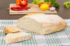 White wheat bread Royalty Free Stock Photography