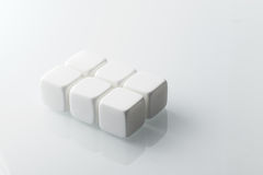 White whiskey stones set of 6. Royalty Free Stock Photography