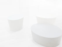 White on white objects Stock Image