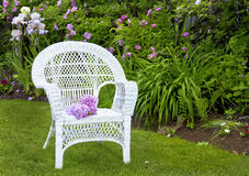 White Wicker Stock Images