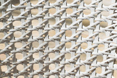 White wicker backrest. Close up texture Stock Photography