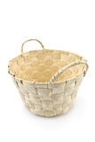 White wicker bag Stock Photos