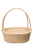 White wicker basket isolated on white Stock Photography