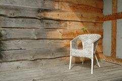 White wicker chair Stock Image