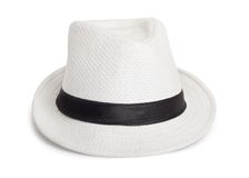 White wicker hat for the summer Royalty Free Stock Photography