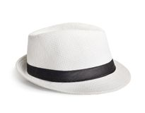 White wicker hat for the summer Royalty Free Stock Photo