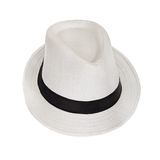 White wicker hat for the summer Stock Images