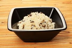 White and wild rice Stock Image