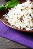 White and wild rice boiled Stock Photo