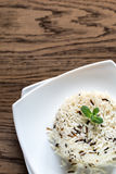 White and wild rice portion Royalty Free Stock Photography