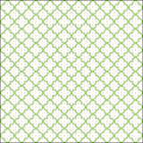 White and wild willow colored quatrefoil patern Stock Image