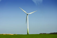 White wind energy Royalty Free Stock Photography