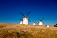 White wind mills Royalty Free Stock Images