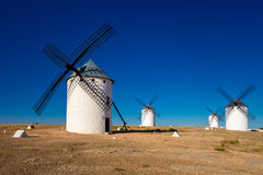 White wind mills Stock Photography