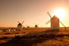 White wind mills Royalty Free Stock Photo