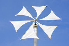 White wind turbine Stock Images