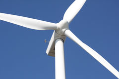 White wind turbine Stock Photography
