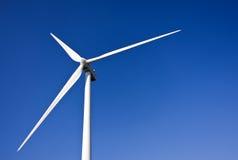 White wind turbine Stock Images