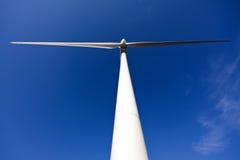 White wind turbine Royalty Free Stock Images