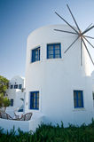 White Windmill in Greece Royalty Free Stock Photo