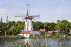 White windmill in Rotterdam Stock Photography