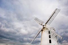 Rustic White Windmill in Ireland Royalty Free Stock Photo