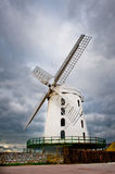 White Windmill in Ireland Stock Image