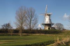 White windmill in Veere  Stock Photo