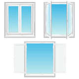 White window Royalty Free Stock Photography