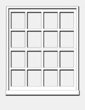 White Window. Wood Window isolated on a Grey Background vector illustration
