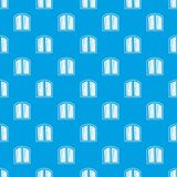 White window arched frame pattern seamless blue Royalty Free Stock Photos