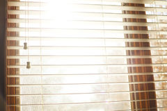 White Window Blinds Open Stock Photography