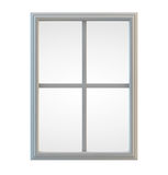 White Window. Frame isolated. Clipping path included for precise selection Stock Images