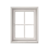White window frame isolated on white background Stock Photos