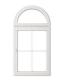 White window frame isolated on white background Royalty Free Stock Photos