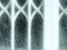 White window with frosted glass detail Royalty Free Stock Photo
