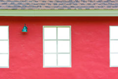 White window with lamp Royalty Free Stock Photos