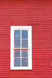 White Window on Red Stock Photography
