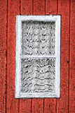 White window on a red house Royalty Free Stock Photos