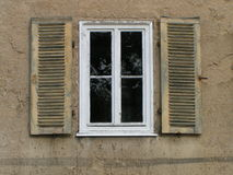 White window with shutters Stock Photos
