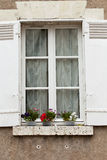 White window with shutters Royalty Free Stock Photography