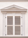 White window with shutters Royalty Free Stock Image