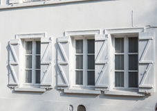 White window on white wall Stock Image
