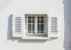 White window on white wall Stock Photography