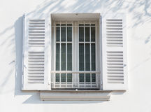 White window on white wall Royalty Free Stock Image