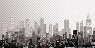 New city gray towers Royalty Free Stock Photos
