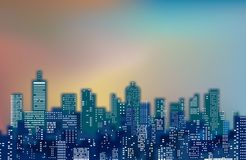 Blurry color cityscape Stock Photography