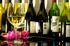 White Wine. A glass of white wine Royalty Free Stock Photo