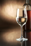 White wine. Wine in glasses and a bottle Stock Photos