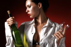 White wine Stock Images